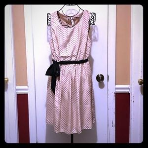Forever 21 Pink Polka Dot Dress Medium NWOT